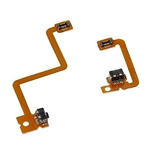 Timorn L R Schulterknopf mit Flexkabel Reparaturteile für 3DS Linker Rechter Schulterknopf (2 Sets)