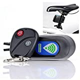 Louyihon-Wireless Alarm Lock Bicycle Security System With Remote Control Anti-Theft alarm für cobra fahrradschloss mit im cockpit(Black) (Black)