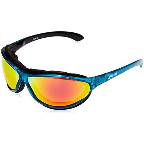 OceanGlasses - Tierra de fuego -occhiali da sole polarizzati - Montatura : Blu Trasparente - Lenti : Gialle Specchiate (12201.6)