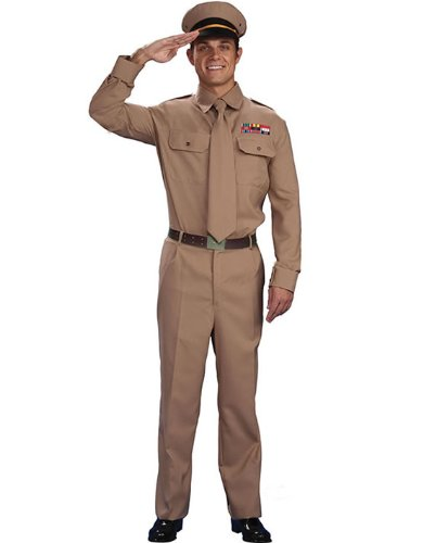 Imagen 1 de Army GENERAL US WW2 GI 1950s Soldier Mens Fancy Dress (disfraz)