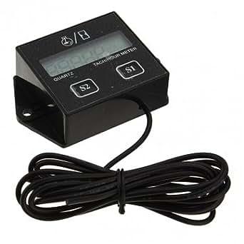 bougies moteurs à gaz heures du tachymètre numérique atv de jauge compteur tachymètre