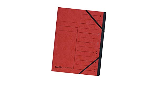 Eckspanner A4 Register Sammelmappe 7 Fächer FALKEN 11288.