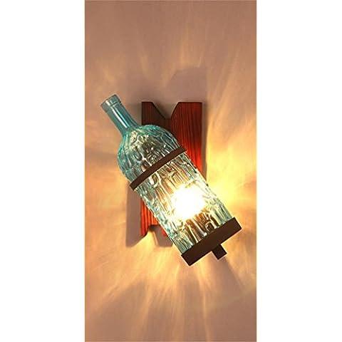 Creative Light-retrò bottiglia parete industrie creative loft personalizzato Color Studio bar KTV caffè decorato parete