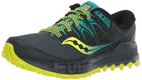 Saucony Peregrine ISO, Zapatillas De Trail Running para Hombre, Verde Verde 37, 42 EU