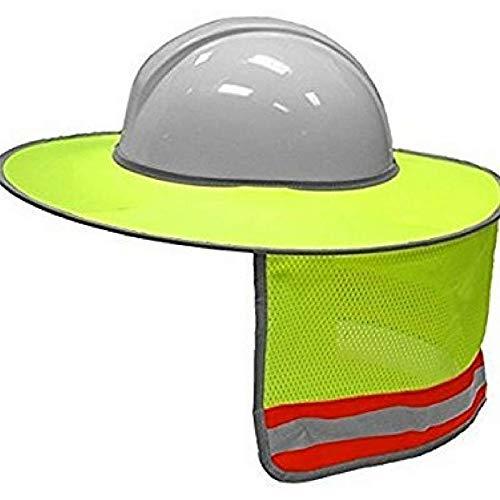 SODIAL Bau-Schutzhelm Hals Schild Helm Sonnenschutz Reflexstreifen Kit Kit (Gelb) -