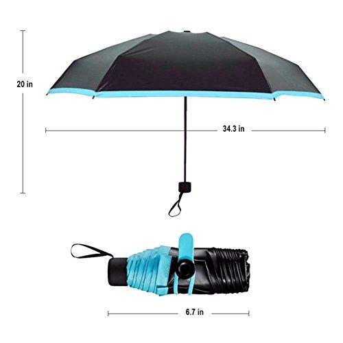 Golf-taschen Frauen Für (Mini-Regenschirm-Taschen-kompakter faltbarer Reise-Sonnenschirm UV-Schutz Leightweight im Freien Golf-Regenschirm für Mann-Frauen)