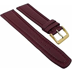 Graf Manufaktur Montana Replacement Band Watch Band Nappa Strap burgundy 26362G, width:20mm