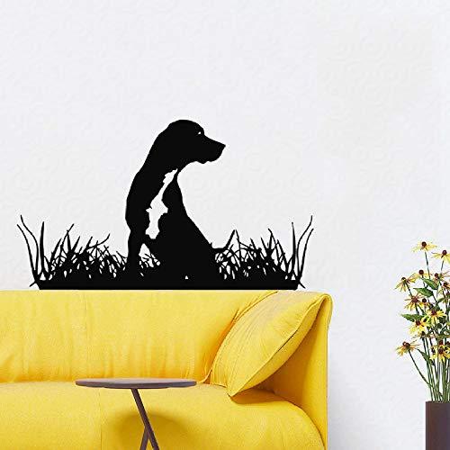 Zqyjhkou adesivi murali rimovibili per cani adesivi murali impermeabili salone per toelettatura cucciolo animali domestici art vinile adesivo negozio di animali decor design murale 1 56x75 cm