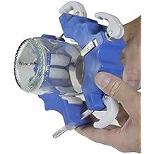 Creative Bottle Cutting - Cortador de botellas creativo, para botellas de 43-102 mm de diámetro, fuerte y resistente, ideal para elaborar regalos, decoraciones y portavelas creativos, instrucciones completas incluidas (idioma español no garantizado), con garantía de 90 días para mayor tranquilidad, una manera ecológica de reutilizar botellas viejas Una manera divertida de reciclar. - Blue and White