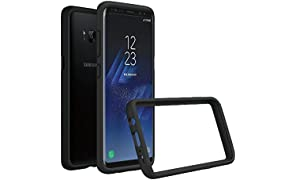 RhinoShield Bumper Case GALAXY S8 [NOT Plus] [Crashguard] | Shock Absorbent Slim Design Protective Cover - Compatible w/Wireless Charging [3.5M/11ft Drop Protection] - Black