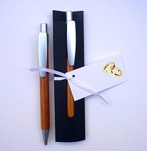 Para Invitados   Detalles y Recuerdos de Boda   Bolígrafos de Madera de Bambú con Funda   Pack 20 Unidades   Y lo más Alucinante: ¡¡Escriben Super Bien!!