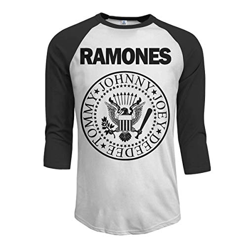 momnn JeremiahR Ramones Men's 3/4 Sleeve Raglan Baseball Tshirts Black M - Vintage St Patricks Tag T-shirts