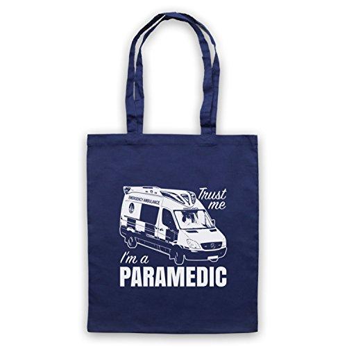 Fidati Di Me Un Paramedico Slogan Di Lavoro Divertente Umhangetaschen Ultramarinblau