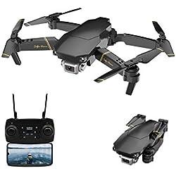 Adsvtech WiFi FPV Drone con cámara 1080 HD para Principiantes WiFi HD FPV Cuadricóptero RC Plegable, conmutación de Doble Disparo, 15 Minutos de Tiempo de Vuelo, posicionamiento de Flujo óptico