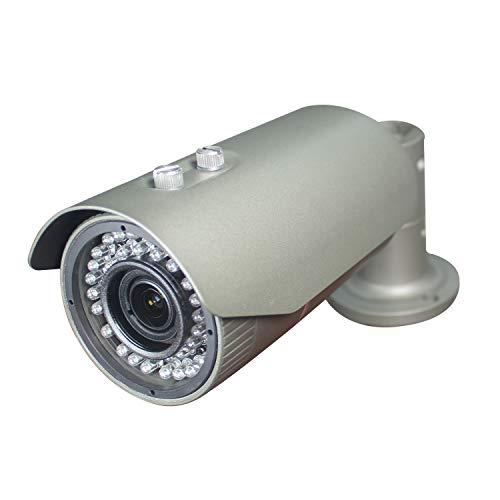 Sinis Security 1080P 2.0MP HD CMOS Sensor TVI/AHD/CVI/960H Bullet Analog CCTV Kamera,Full HD wasserdicht Überwachungskamera Sicherheit Outdoor 2.8-12 mm Variifokal Linse,72 IR-LED, Metallgehäuse grau