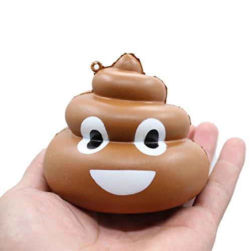 VENMO Squishy Crazy Hocker Squeeze Poo Langsam steigende Spaß Spielzeug Bunt Himmel Kacke Dekompressions spielzeug Langsam stehendes Spielzeug Tiere Hund toys Entlasten Stress Cure Decor (brown)