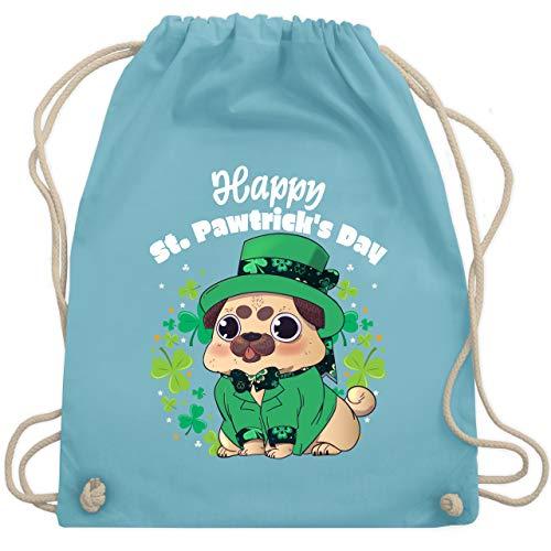 St. Patricks Day - Happy St. Pawtrick's Day - Unisize - Hellblau - WM110 - Turnbeutel & Gym Bag
