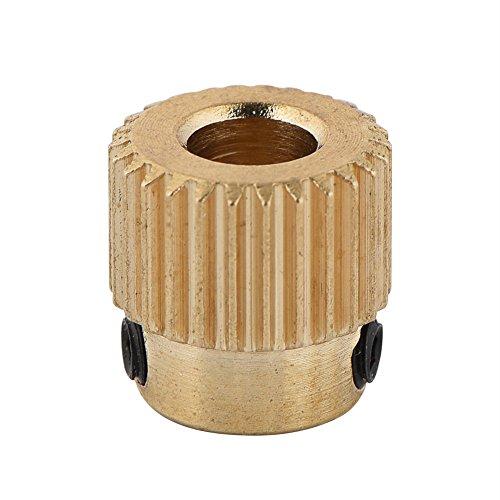 VBESTLIFE Extruder Rad,Hohe Qualität Messing Antriebsrad 3D Drucker Zubehör für Extruder MK7 MK8 26/40 Zähne, 10 stücke (26 Zähne)