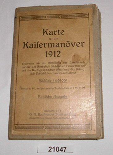 Bestell.Nr. 121047 Karte für das Kaisermanöver 1912