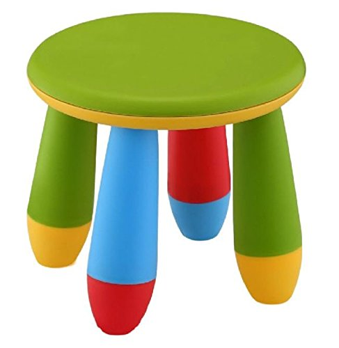 Mueblear 90058 Taburete infantil de plástico verde 20x15x26 cms
