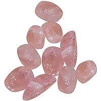 ROSENICE 9-12MM Cristal de cuarzo rosa áspero pulido piedra natural para manualidades de bricolaje 50g (Rosa)