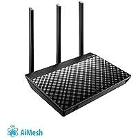 ASUS RT-AC66U - Router inalámbrico AC1750 Dual-band Gigabit (punto de acceso, USB, Triple VLAN y compatible con Ai Mesh wifi)
