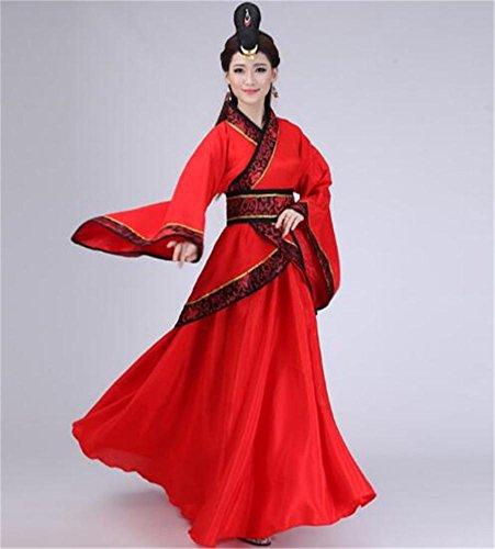 Vestito da danza nazionale cinese / vestito da spettacolo teatrale / vestito rosso da donna , f