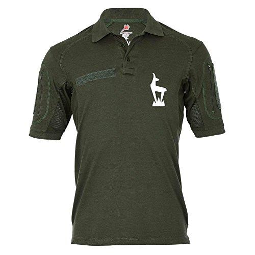 Tactical Poloshirt Alfa - Gams Abzeichen Wappen Emblem Steinbock GebJgBtl Diensthemd #19016, Größe:S, Farbe:Oliv