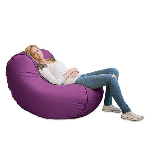 Lumaland Luxury Lounge Chair Sitzsack stylischer Beanbag 320L Füllung verschieden