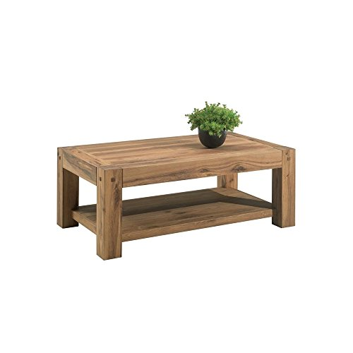 PierImport Table Basse Rustique Double Plateau Fjord