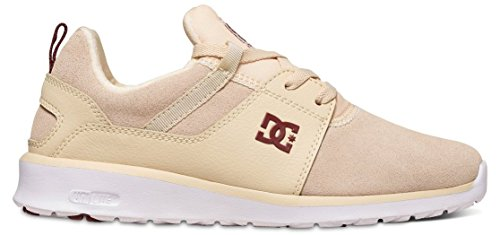 DC Shoes Heathrow Se J, Baskets Basses femme Blanc - Cream