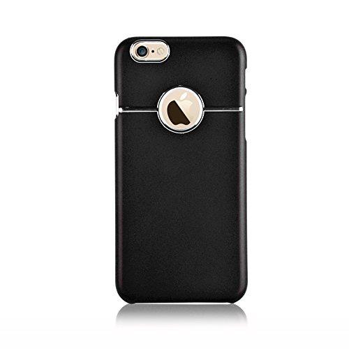 JAMMYLIZARD | Dreiteilige Aluminium Schutzhülle für [ iPhone 6 & 6s 4.7 Zoll ], GOLD Matt mit Chrom-Effekt - SCHWARZ