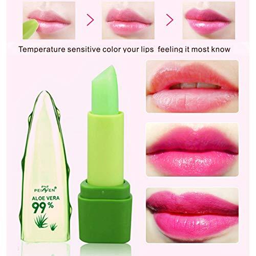 Brillant à lèvres hydratant durable hydratant durable, rouge à lèvres changeant de couleur d'aloès liquide naturel pur de Cocohot, aucun fondu (A)
