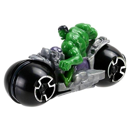 Image of Hot Wheels Marvel HULK Moto with Rider