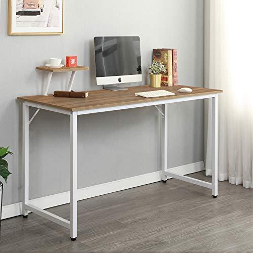 soges Computer Desk Table Computer Workstation Desk Office Desks Sturdy Wooden Desk, Oak WK-JK100-OK