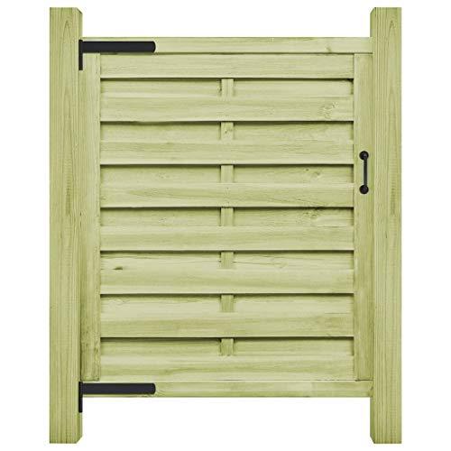 vidaXL Legno Pino FSC Cancello Steccato 100x150 cm Verde Recinzione Giardino