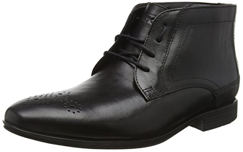 RockportStyle Connected Chukka - Stivaletti uomo, colore nero (black leather), taglia 44.5 EU (10 UK)