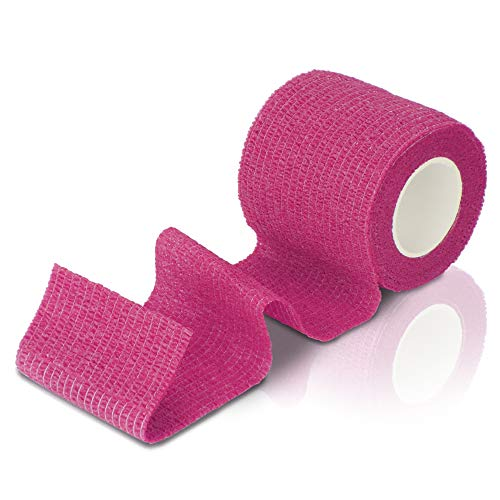 Ellas Care schneller Wundverband - Erste Hilfe bei Verletzungen oder zur Stabilisierung der Gelenke - Geeignet für Tiere und Menschen - selbstklebend, latexfrei, elastisch - 5cm x 4,5m pink