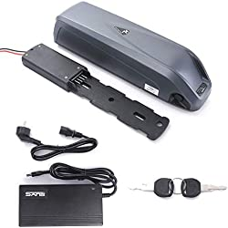 HANERIDE Hailong E-Bike Batterie 36V 14.5 Ah 537 Wh Batterie Rechargeable au Lithium-ION pour Batterie Rechargeable pour vélo électrique, Pedelec, vélo électrique avec Chargeur pour Tube de Descente.