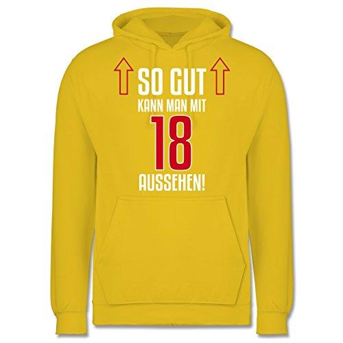 Geburtstag - So gut kann man mit 18 aussehen - Männer Premium Kapuzenpullover / Hoodie Gelb