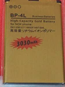 3030mAh High Capacity replacement Gold Battery BP-4L For Nokia N97 E71 E55 E63