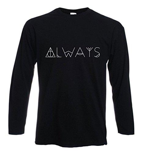 t-shirt manica lunga Always, per sempre, love, amore- S M L XL XXL uomo donna bambino maglietta by tshirteria