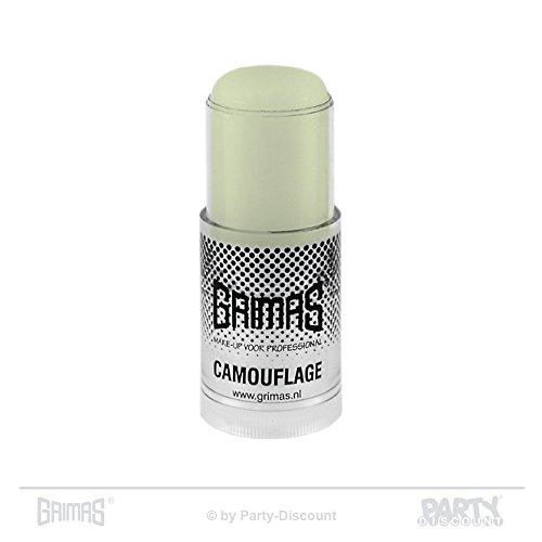 Grimas Camouflage Make-up Pure Stick, Farbe 408 Hellgrün, 24 ml Stick, Profi-Concealer, Abdeckstift, Basis-Make-Up, Grundierung
