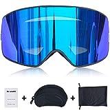 Fansport Ski-Brille Anti-Beschlag, UV-Schutz, Snowboard-Brille für den Schnee, Snowboard, Snowmobile, Skateboard, Motorrad, Reiten, Schneebrille für Männer
