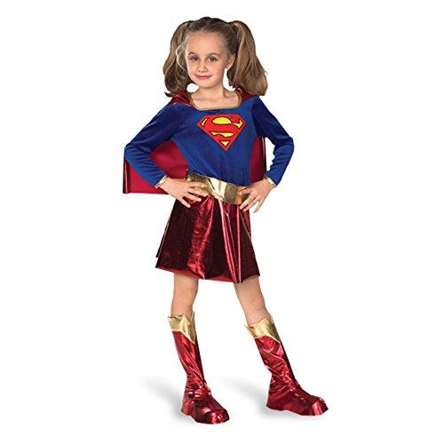 Deluxe con licencia oficial de tipo libro Day Dress Superwoman ropa de descanso para niñas diseño de martillo de Thor agenda de diseño de noche de brujas Fancy a partir (Kinder Kostüm Superwoman)