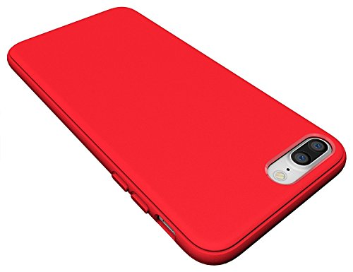 Coque iPhone 7 Plus, Diztronic Full Matte TPU Case for Apple iPhone 7 Plus - (Matte Purple) Matte Red