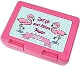 Kilala Brotdose Flamingos Spruch Zeit für eine Kleine Pause Wuschnamen personalisiert Brotzeitbox Lunchbox Girls Büro Schule