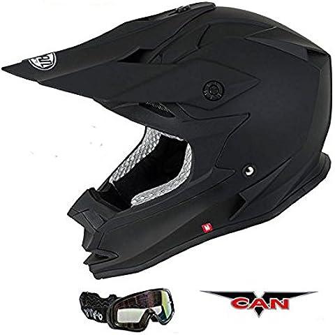 Caschi Moto: V-CAN V321 FORCE Nuovi Moto Road Casco (Nero
