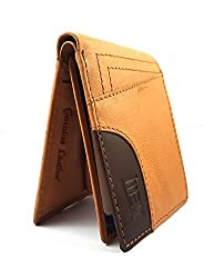 iMex Mens Beige Genuine Leather Wallet