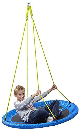 *Nestschaukel Ø 110 cm, Tragkraft 150 kg, verstellbar von 105-180 cm, TÜV/GS, RCEE, Izzy Sport (blau)*